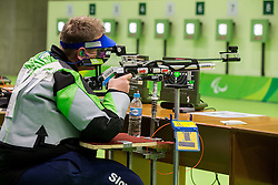 Damjan Pavlin of Slovenia during Qualification of R5 - Mixed 10m Air Rifle Prone SH2 on day 6 during the Rio 2016 Summer Paralympics Games on September 13, 2016 in Olympic Shooting Centre, Rio de Janeiro, Brazil. Photo by Vid Ponikvar / Sportida