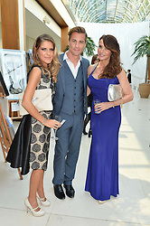 Left to right, GEMMA OATEN, MATT EVERS and LIZZIE CUNDY at the Ben Cohen Stand Up Foundation Gala evening at The Hurlingham Club, Ranelagh Gardens, London on 21st May 2015.