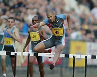 Track and Field, 28. june 2002, Golden League - Bislett Games, Oslo, Norway.  Felix Sanchez, Dom. 400 h. men.