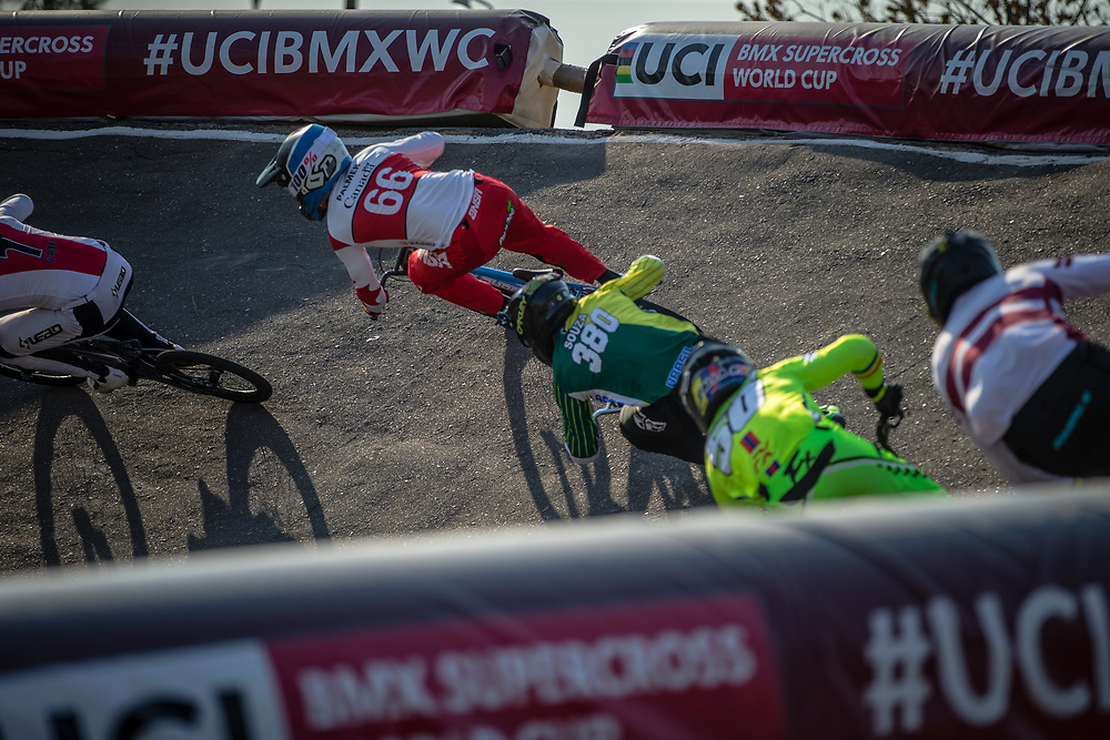 #66 (PALMER James) CAN at Round 10 of the 2019 UCI BMX Supercross World Cup in Santiago del Estero, Argentina