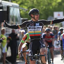 14-05-2016: Wielrennen: Ronde van Overijssel: Rijssen    <br /> RIJSSEN (NED) wielrennenMet 64 edities is de ronde van Overijssel een van de oudste wielerkoersen in Nederland. De Litouwers Aidis Kruopis (Litauwen-Veranda Willems) wint voor Yoeri Stallaert en Timothy Stevens
