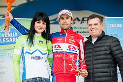 Radoslav Rogina of KK Adria Mobila and  Dean Kocjancic of TIC Izola during trophy ceremony after the UCI Class 1.2 professional race 3rd Grand Prix Izola, on February 28, 2016 in Izola / Isola, Slovenia. Photo by Vid Ponikvar / Sportida