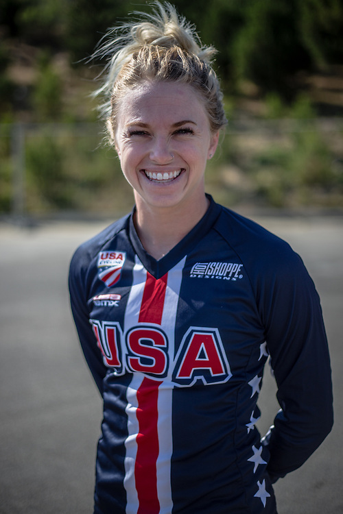 Women Elite #32 (CRAIN Brooke) USA at the 2018 UCI BMX World Championships in Baku, Azerbaijan.