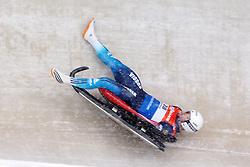 24.01.2015, Bobbahn, Winterberg, GER, Viessmann Rennrodel Weltcup, Winterberg, im Bild Sturz von PAVILCHENKO, Semen (RUS) in der Zielkurve // during Viessmann Luge World Cup at the Bobbahn in Winterberg, Germany on 2015/01/24. EXPA Pictures © 2015, PhotoCredit: EXPA/ Eibner-Pressefoto/ Spiegelberg<br /> <br /> *****ATTENTION - OUT of GER*****