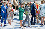 27-4-2015 DORDRECHT - King's Day with Queen Maxima King Willem Alexander and Princess Amalia, Princess Alexia and Ariane. Princess Constantijn and Princess Laurentien, Princess Marilene and Prince Maurice, Prince Floris and Princess Aimee, Jaime Prince and Princess Viktoria. COPYRIGHT ROBIN UTRECHT<br /> 27-4-2015 DORDRECHT - Koningsdag met Koningin Maxima Koning Willem Alexander  en prinses Amalia , prinses Ariane en Alexia . Prinses Constantijn en Prinses Laurentien , Prinses Marilene en prins Maurits , prins Floris en prinses Aimee , Prins Jaime en prinses Viktoria . COPYRIGHT ROBIN UTRECHT