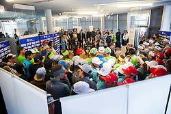 Press conference during official presentation of the outfits of the Slovenian Ski Teams before new season 2016/17, on October 18, 2016 in Planica, Slovenia. Photo by Vid Ponikvar / Sportida