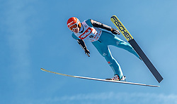 28.01.2017, Casino Arena, Seefeld, AUT, FIS Weltcup Nordische Kombination, Seefeld Triple, Skisprung, im Bild Manuel Faisst (GER) // Manuel Faisst of Germany in action during his Competition Jump of Skijumping of the FIS Nordic Combined World Cup Seefeld Triple at the Casino Arena in Seefeld, Austria on 2017/01/28. EXPA Pictures © 2017, PhotoCredit: EXPA/ JFK