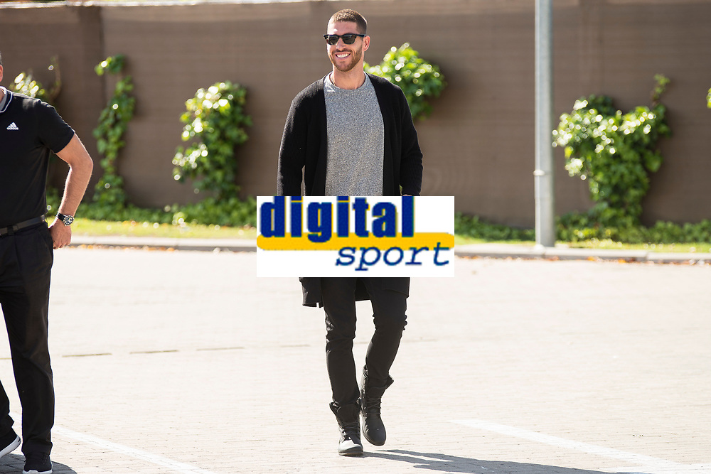 Arrival of the players of the Spanish football team squad for the Qualifying to European Championship in France at the Ciudad del Futbol of Las Rozas, Madrid. October 06, 2015<br /> In the image defender of the Real Madrid, Sergio Ramos.<br /> (ALTERPHOTOS/BorjaB.Hojas)