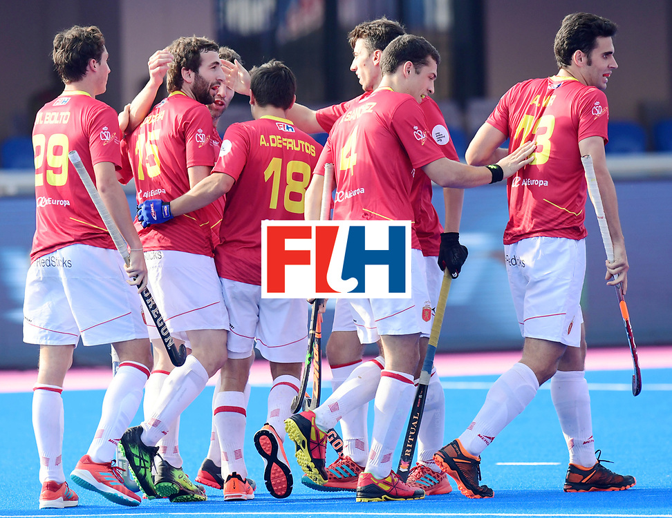 Odisha Men's Hockey World League Final Bhubaneswar 2017<br /> Match id:04<br /> Netherlands vs Spain<br /> Foto: Spain scored a goal<br /> WORLDSPORTPICS COPYRIGHT FRANK UIJLENBROEK
