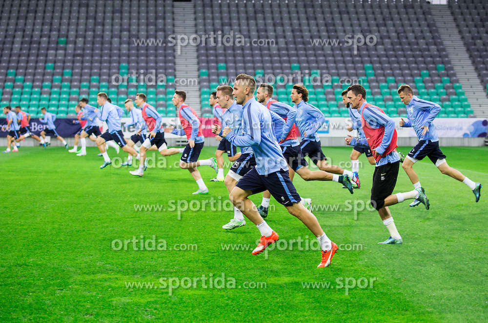 Jasmin Kurtic during practice session of Slovenian National Football team two days before Euro 2016 Qualifying game between Slovenia and Lithuania, on October 7, 2015 in SRC Stozice, Ljubljana Slovenia. Photo by Vid Ponikvar / Sportida