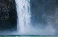 The base of Snoqualmie Falls, Washington, USA.