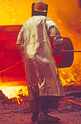 Steel mill worker wearing Protective Clothing