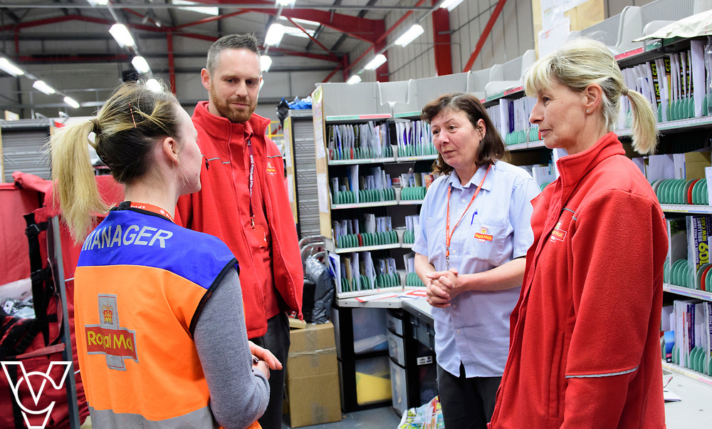 Royal Mail Retford Delivery Office.  Pictured, clockwise from left, Robyn Stanney, Greg Smith, Bev Harrand and Tracey Holland.<br /> <br /> Picture: Chris Vaughan Photography<br /> Date: March 22, 2017