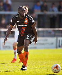 JOHN AKINDE BARNET,  Barnet v Luton Town, EFL Sky Bet League 2 The Hive, Saturday 8th April 2017 Score 0-1<br /> Photo:Mike Capps