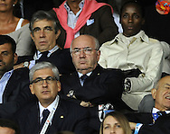 Italian soccer federation president Carlo Tavecchio (centre) during the International Friendly match at Stadio San Nicola, Bari<br /> Picture by Stefano Gnech/Focus Images Ltd +39 333 1641678<br /> 04/09/2014