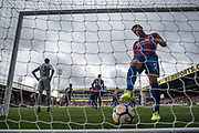 Crystal Palace #13 Wayne Hennessey, Crystal Palace #2 Joel Ward Palace concede goal during the Premier League match between Crystal Palace and Southampton at Selhurst Park, London, England on 16 September 2017. Photo by Sebastian Frej.