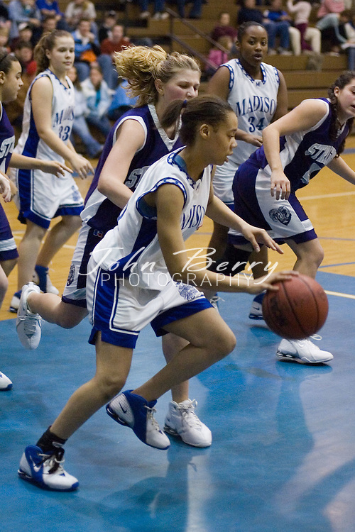 MCHS JV Girls Basketball.vs Strasburg.January 26, 2006