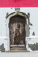 Wooden doors of the Bird Island Lighthouse, Bird Island, Algoa Bay, Eastern Cape, South Africa