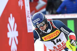 17.02.2019, Aare, SWE, FIS Weltmeisterschaften Ski Alpin, Slalom, Herren, 1. Lauf, im Bild Dave Ryding (GBR) // Dave Ryding of United Kingdom reacts after his 1st run of men's Slalom of FIS Ski World Championships 2019. Aare, Sweden on 2019/02/17. EXPA Pictures © 2019, PhotoCredit: EXPA/ Erich Spiess