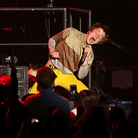 Rock band Cage The Elephant perform on stage at the 2018 iHeartRadio ALTer EGO festival at The Forum on Friday, Jan. 19, 2018, in Inglewood, CA. (Photo by Willy Sanjuan/Invision/AP)