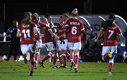 Yana Daniels of Bristol City Women celebrates her goal - Mandatory by-line: Paul Knight/JMP - 02/12/2017 - FOOTBALL - Stoke Gifford Stadium - Bristol, England - Bristol City Women v Brighton and Hove Albion Ladies - Continental Cup Group 2 South