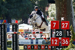 HOFFMANN Tim-Uwe (GER), Casta Lee<br /> Wiesbaden - 82. PfingstTurnier 2018<br /> U25 Springpokal Stiftung deutscher Spitzenpferdesport<br /> Preis der Familie Müter<br /> 21. Mai 2018<br /> www.sportfotos-lafrentz.de/Stefan Lafrentz
