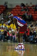 "05 May 2006: Kevin ""Special K"" Daley looses his shorts at the Harlem Globetrotters vs the New York Nationals at the Sulivan Arena in Anchorage Alaska during their 80th Anniversary World Tour."