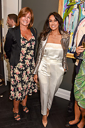 Left to right, Miranda Davis and Jackie St.Clair at a private view of work by Bradley Theodore entitled 'The Second Coming' at the Maddox Gallery, 9 Maddox Street, London England. 19 April 2017.