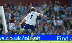 BIRMINGHAM, ENGLAND - Saturday, August 25, 2012: Everton's Nikica Jelavic scores the third goal against Aston Villa during the Premiership match at Villa Park. (Pic by David Rawcliffe/Propaganda)