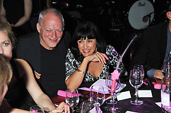DAVID GILMOUR and POLLY SAMPSON at the Hoping Variety Show - A benefit evening for Palestinian Refugee Children held at The Cafe de Paris, Coventry Street, London on 21st November 2011.