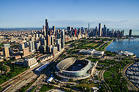 Chicago Skyline featuring Soldier Field & Museum Campus (2)