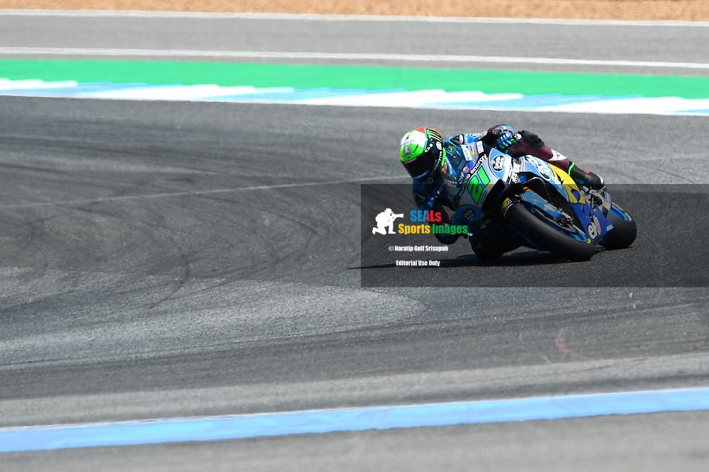 BURIRAM, THAILAND - OCTOBER 06: Franco Morbidelli (21) of Italy and EG 0,0 Marc VDS in Turn 12 during FP3 at the MotoGP PTT Thailand Grand Prix 2018, Chang International Circuit, Buriram, Thailand on October 06, 2018. <br /> .<br /> .<br /> .<br /> (Photo by: Naratip Golf Srisupab/SEALs Sports Images)<br /> .<br /> Any image use must include a mandatory credit line adjacent to the content which should read: Naratip Golf Srisupab/SEALs Sports Images