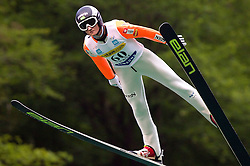 Matic Kramarsic (SLO) of SSK Costella Ilirija during Ski Jumping Summer Continental Cup in Kranj, on July 2, 2011, in Kranj, Slovenia. (Photo by Vid Ponikvar / Sportida)