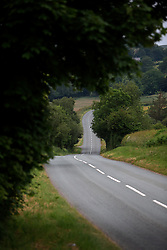UK ENGLAND LEICESTER 1JUL15 - Country road near Lake Vyrnwy, Wales, in the river Severn catchment area.<br /> <br /> jre/Photo by Jiri Rezac<br /> <br /> © Jiri Rezac 2015