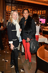 Left to right, CAROLINE FLEMING and SHERETT DAHLSTROM at the Cash & Rocket Tour Announcement Launch Lunch in association with McArthur Glen was held at The Grill, The Dorchester, Park Lane, London on 12th March 2015.