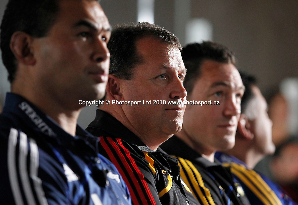 Chiefs coach Ian Foster. 2011 Investec Super 15 New Zealand franchises rugby squad naming, Eden Park, Auckland, Wednesday 10 November 2010. Photo: Simon Watts/photosport.co.nz