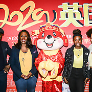 Kenrick Williamson, Medina Williamson,Laylah Williamson and Florence Bliss attends the 2020 China-Britain Chinese New Year Extravaganza with 200 performers from over 20 art groups from both China and the UK showcase at Logan Hall on 18th January 2020, London, UK.