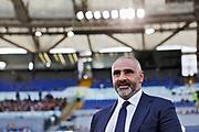 Lecce head coach Fabio Liverani on the bench during the Italian championship Serie A football match between SS Lazio and US Lecce Sunday, Nov. 10, 2019 at the Stadio Olimpico in Rome. SS Lazio defeated US Lecce 4-2. (Federico Proietti/Image of Sport)