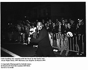Cuba Gooding Jnr. running with his Oscar at the Vanity Fair Oscar Night Party. 1997 Mortons, Los Angeles 24 March 1997<br />