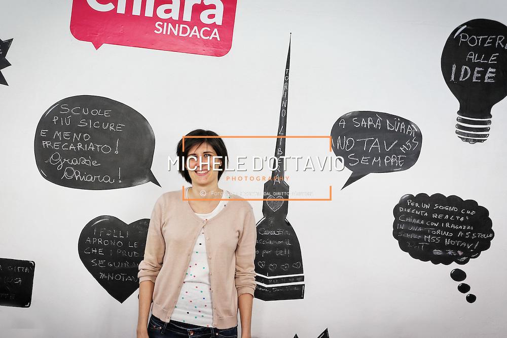 Torino 9/04/2016 :  Chiara Appendino, candidata Sindaco per il MoVimento 5 Stelle. Elezioni comunali Torino 2016.