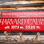 Harvard Cabin Sign alt. 1073m 3520ft