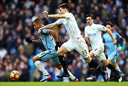 Federico Fernandez of Swansea City chases Gabriel Jesus of Manchester City - Mandatory by-line: Matt McNulty/JMP - 05/02/2017 - FOOTBALL - Etihad Stadium - Manchester, England - Manchester City v Swansea City - Premier League
