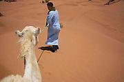 Camel trekking through the Sahara Desert, Morocco