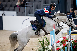 PHILIPPAERTS Olivier (BEL), H&M Legend Of Love<br /> Göteborg - Gothenburg Horse Show 2019 <br /> Longines FEI Jumping World Cup™ Final<br /> Training Session<br /> Warm Up Springen / Showjumping<br /> Longines FEI Jumping World Cup™ Final and FEI Dressage World Cup™ Final<br /> 03. April 2019<br /> © www.sportfotos-lafrentz.de/Stefan Lafrentz