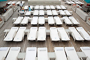 BALI, INDONESIA JAN 2015;<br />Awimming pool area on board of the Chrystal Symphony Cruise docked in the Harbour in Bali, Indonesia, Jan 2015<br />@Giulio Di Sturco