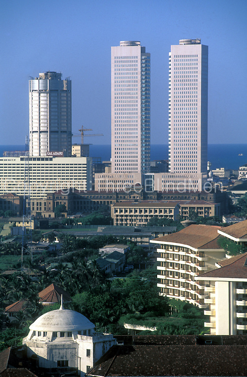 Sri Lanka. .Colombo skyline.