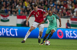 September 3, 2017 - Budapest, Hungary - kos Elek (L) of Hungary in action with Joao Mário (R) of Portugal during the World Cup qualification match between Hungary and Portugal at Groupama Arena on Nov 03, 2017 in Budapest, Hungary. (Credit Image: © Robert Szaniszlo/NurPhoto via ZUMA Press)