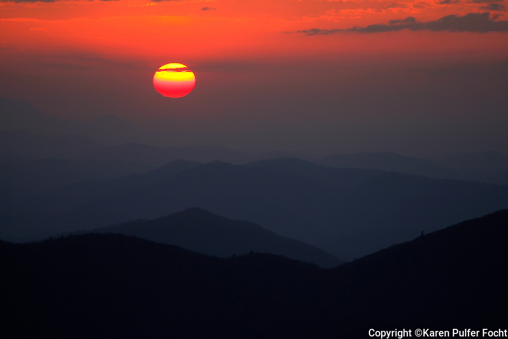 """On the North Carolina/Tennessee state line, not far west of the Great Smoky Mountains, is Max Patch Mountain. At 4629 feet elevation, this grassy summit is not the highest mountain in its immediate vicinity, but it is considered by some to be the """"crown jewel of the Appalachian Trail."""""""
