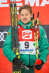 17.12.2017, Nordische Arena, Ramsau, AUT, FIS Weltcup Nordische Kombination, Siegerehrung, im Bild 1. Platz Fabian Riessle (GER) // Winner Fabian Riessle of Germany during winner ceremony of FIS Nordic Combined World Cup, at the Nordic Arena in Ramsau, Austria on 2017/12/17. EXPA Pictures © 2017, PhotoCredit: EXPA/ Dominik Angerer