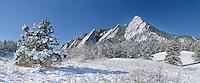 Flatiron formation at Chautauqua Park, Boulder Colorado